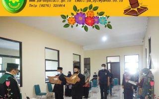 Pelantikan dan Pengambilan Sumpah Jabatan Panitera Muda Permohonan dan Panitera Pengganti Pengadilan Agama Boyolali.