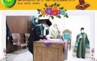 Pelantikan dan Pengambilan Sumpah Jabatan Ketua Pengadilan Agama Boyolali Eldi Harponi, S.Ag., M.H Secara Daring