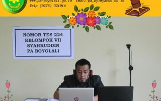Hakim Pengadilan Agama Boyolali Ikuti  Profile Assessment dan Fitt and Proper Test Secara Virtua